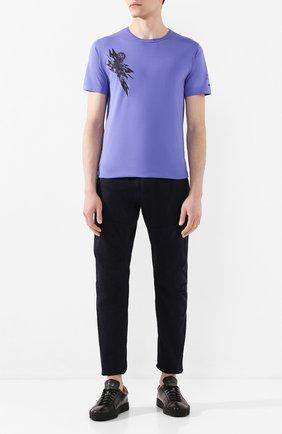 Мужская хлопковая футболка STONE ISLAND SHADOW PROJECT сиреневого цвета, арт. 721920110 | Фото 2