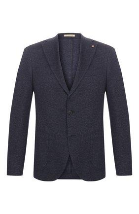 Мужской хлопковый пиджак SARTORIA LATORRE темно-синего цвета, арт. JF74 JE3143 | Фото 1