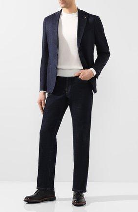 Мужской хлопковый пиджак SARTORIA LATORRE темно-синего цвета, арт. JF74 JE3143 | Фото 2