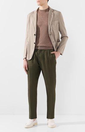 Мужской льняные брюки MARCO PESCAROLO хаки цвета, арт. CHIAIA/4129 | Фото 2