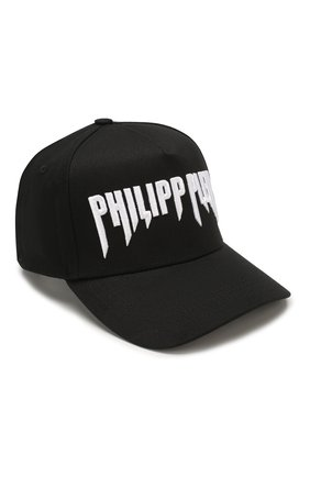 Мужской хлопковая бейсболка PHILIPP PLEIN черного цвета, арт. S20A UAC0022 PTE003N | Фото 1