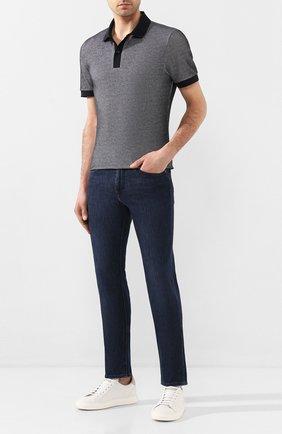 Мужские джинсы BOSS темно-синего цвета, арт. 50426475   Фото 2