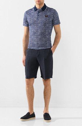 Мужские кожаные эспадрильи TOD'S темно-синего цвета, арт. XXM66B0BM406RN | Фото 2