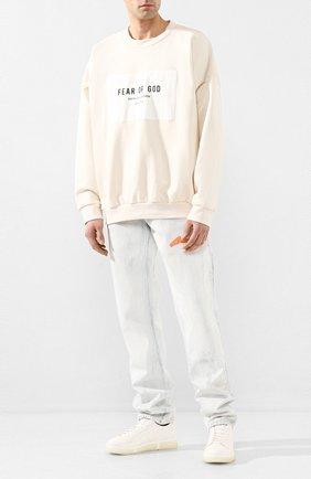 Мужские кожаные кеды V DESIGN белого цвета, арт. MSC01 | Фото 2