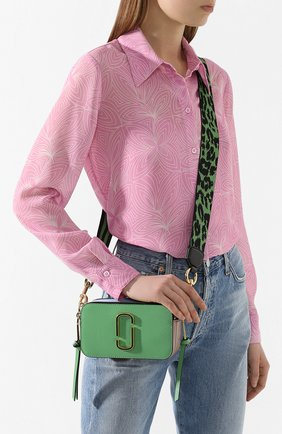 Женская сумка snapshot small MARC JACOBS (THE) зеленого цвета, арт. M0012007 | Фото 2