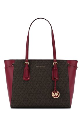 Женская сумка-тоут voyager medium MICHAEL MICHAEL KORS малинового цвета, арт. 30F8GV6T8B | Фото 1