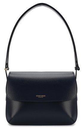 Женская сумка la prima GIORGIO ARMANI темно-синего цвета, арт. Y1E139/YTF4A | Фото 1 (Сумки-технические: Сумки top-handle, Сумки через плечо; Материал: Натуральная кожа; Ремень/цепочка: На ремешке; Размер: small)