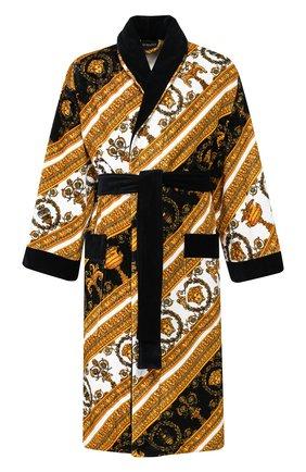 Мужской хлопковый халат VERSACE разноцветного цвета, арт. ZACP00008/ZC0SP075 | Фото 1