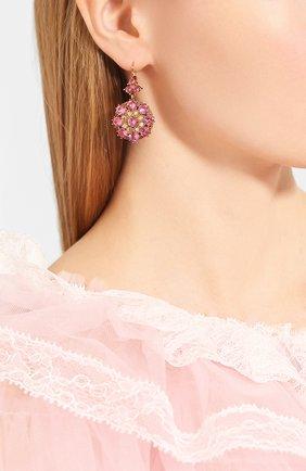 Женские серьги DOLCE & GABBANA розового цвета, арт. WEM2F2/W1111 | Фото 2