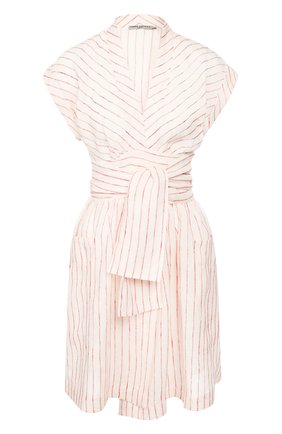 Женское льняное платье THREE GRACES белого цвета, арт. TGL DR6038   Фото 1