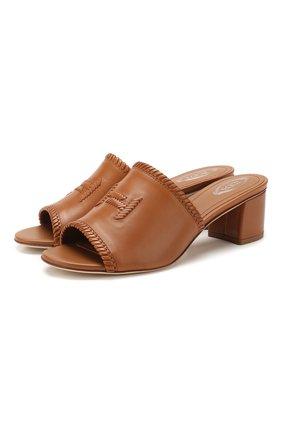 Женские кожаные мюли TOD'S коричневого цвета, арт. XXW19C0CL60D90   Фото 1