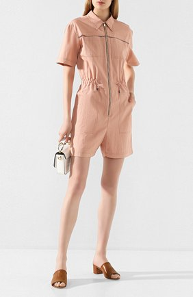 Женские кожаные мюли TOD'S коричневого цвета, арт. XXW19C0CL60D90   Фото 2