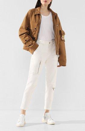 Женские кожаные кеды TOD'S белого цвета, арт. XXW31C0CU20NPU | Фото 2