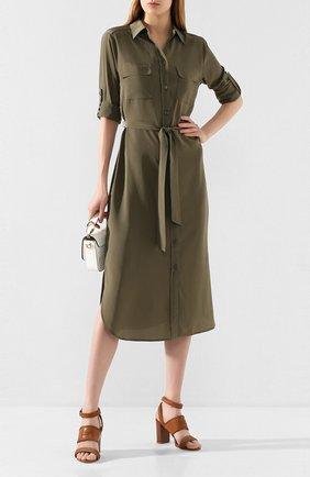 Женские кожаные босоножки TOD'S коричневого цвета, арт. XXW43B0CL30D90 | Фото 2