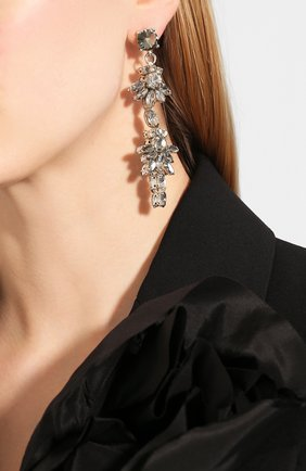 Женские серьги OSCAR DE LA RENTA серого цвета, арт. S20J178BLD | Фото 2