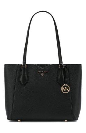 Женская сумка-тоут mae medium MICHAEL MICHAEL KORS черного цвета, арт. 30H9GM5T2L   Фото 1