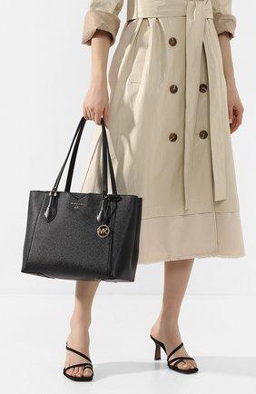 Женская сумка-тоут mae medium MICHAEL MICHAEL KORS черного цвета, арт. 30H9GM5T2L   Фото 2