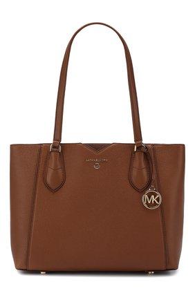 Женская сумка-тоут mae medium MICHAEL MICHAEL KORS светло-коричневого цвета, арт. 30H9GM5T2L   Фото 1