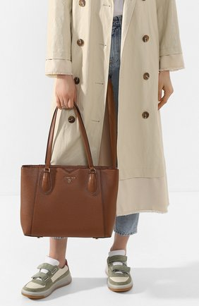 Женская сумка-тоут mae medium MICHAEL MICHAEL KORS светло-коричневого цвета, арт. 30H9GM5T2L   Фото 2