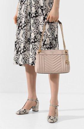 Женская сумка susan small MICHAEL MICHAEL KORS светло-розового цвета, арт. 30H9GUSL1T   Фото 2