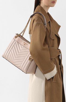Женская сумка susan medium MICHAEL MICHAEL KORS светло-розового цвета, арт. 30H9GUSL2T   Фото 2