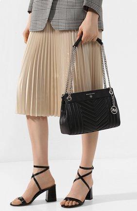 Женская сумка susan small MICHAEL MICHAEL KORS черного цвета, арт. 30H9SUSL1T   Фото 2
