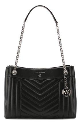Женская сумка susan medium MICHAEL MICHAEL KORS черного цвета, арт. 30H9SUSL2T   Фото 1