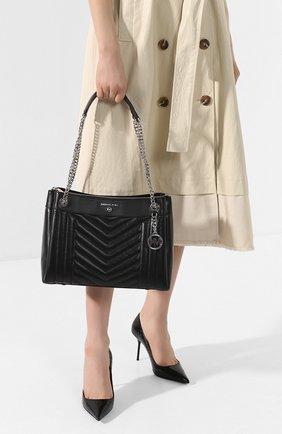 Женская сумка susan medium MICHAEL MICHAEL KORS черного цвета, арт. 30H9SUSL2T   Фото 2