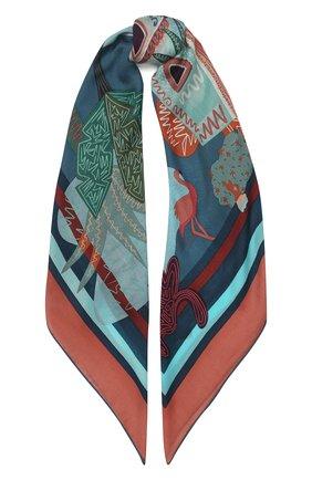 Женский кашемировый платок oasis LORO PIANA голубого цвета, арт. FAI9830 | Фото 1