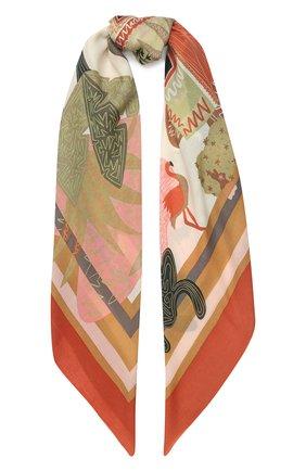 Женский кашемировый платок oasis LORO PIANA бежевого цвета, арт. FAI9830 | Фото 1