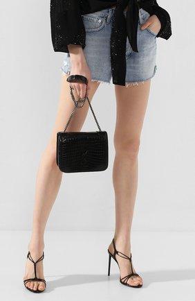 Женская сумка niki SAINT LAURENT черного цвета, арт. 591258/1QP4D | Фото 2