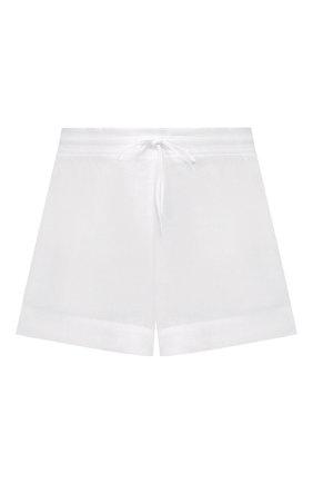Женские шорты из смеси вискозы и льна LISE CHARMEL белого цвета, арт. ASA01A5 | Фото 1 (Длина Ж (юбки, платья, шорты): Мини; Материал внешний: Лен; Стили: Кэжуэл; Женское Кросс-КТ: Шорты-одежда)