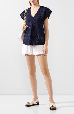 Женские шорты из смеси вискозы и льна LISE CHARMEL белого цвета, арт. ASA01A5 | Фото 2 (Длина Ж (юбки, платья, шорты): Мини; Материал внешний: Лен; Стили: Кэжуэл; Женское Кросс-КТ: Шорты-одежда)