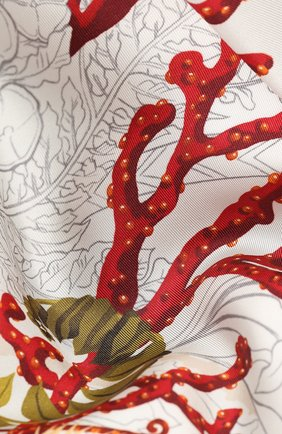 Женский шелковый платок SALVATORE FERRAGAMO светло-бежевого цвета, арт. Z-0726961 | Фото 2