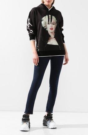 Женская хлопковое худи DOLCE & GABBANA черного цвета, арт. F9F07T/FI7SW | Фото 2