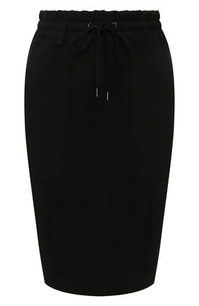 Женская юбка из смеси шелка и хлопка TOM FORD черного цвета, арт. GCJ258-FAX468 | Фото 1