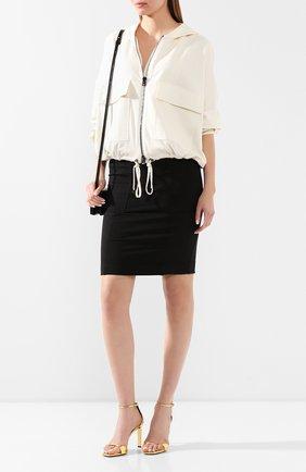 Женская юбка из смеси шелка и хлопка TOM FORD черного цвета, арт. GCJ258-FAX468 | Фото 2