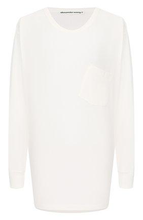 Женская хлопковый лонгслив ALEXANDERWANG.T белого цвета, арт. 4CC1201078 | Фото 1