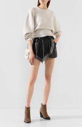 Женский пуловер из смеси шерсти и кашемира ALEXANDER WANG кремвого цвета, арт. 1KC1203076   Фото 2