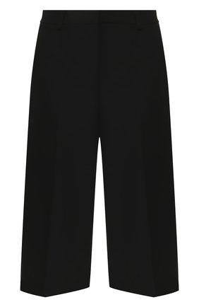 Женские шерстяные шорты THEORY черного цвета, арт. J1001209 | Фото 1