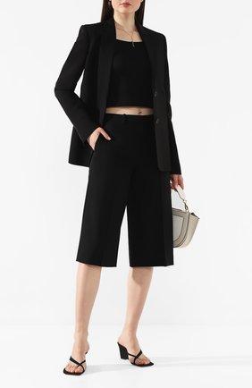 Женские шерстяные шорты THEORY черного цвета, арт. J1001209 | Фото 2