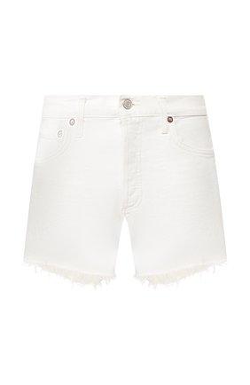 Женские джинсовые шорты AGOLDE белого цвета, арт. A9002-1183 | Фото 1