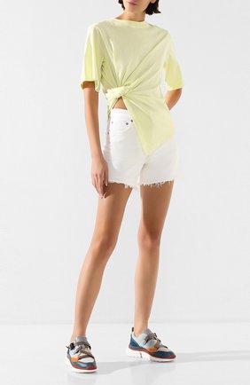 Женские джинсовые шорты AGOLDE белого цвета, арт. A9002-1183 | Фото 2