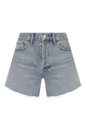 Женские джинсовые шорты AGOLDE голубого цвета, арт. A9002-1141 | Фото 1