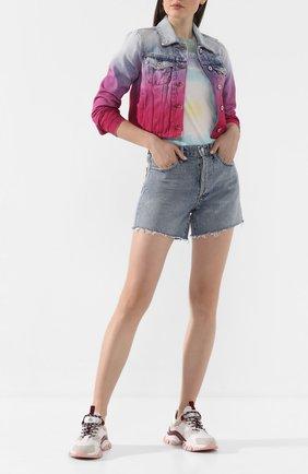 Женские джинсовые шорты AGOLDE голубого цвета, арт. A9002-1141 | Фото 2