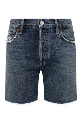Женские джинсовые шорты AGOLDE синего цвета, арт. A120-1206 | Фото 1