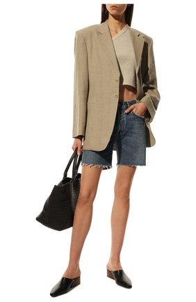 Женские джинсовые шорты AGOLDE синего цвета, арт. A120-1206 | Фото 2