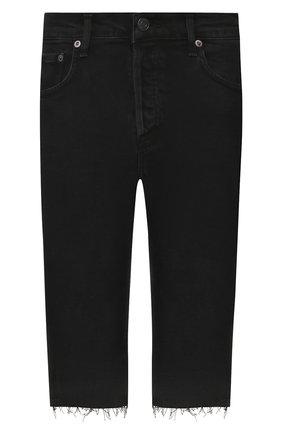 Женские джинсовые шорты AGOLDE черного цвета, арт. A119-1084 | Фото 1