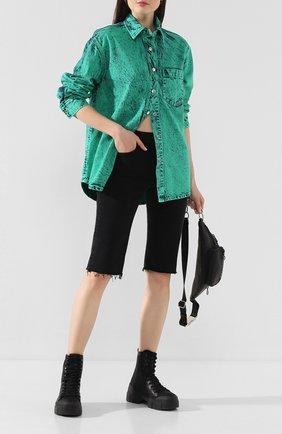 Женские джинсовые шорты AGOLDE черного цвета, арт. A119-1084 | Фото 2