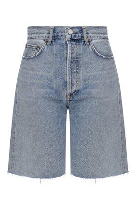 Женские джинсовые шорты AGOLDE голубого цвета, арт. A089-1141 | Фото 1 (Материал внешний: Хлопок, Деним; Стили: Кэжуэл; Женское Кросс-КТ: Шорты-одежда; Длина Ж (юбки, платья, шорты): До колена; Кросс-КТ: Деним)